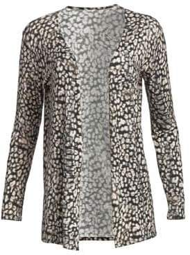 Majestic Filatures Soft Touch Animal Print Cardigan