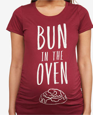 6a97911e ... Motherhood Maternity Bun In The Oven Maternity Tee