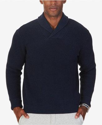 Nautica Men's Ribbed Shawl-Collar Sweater $98 thestylecure.com