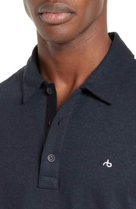 Rag & Bone Standard Issue Regular Fit Slub Cotton Polo