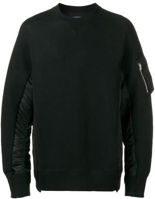 Sacai shell-panelled sweatshirt