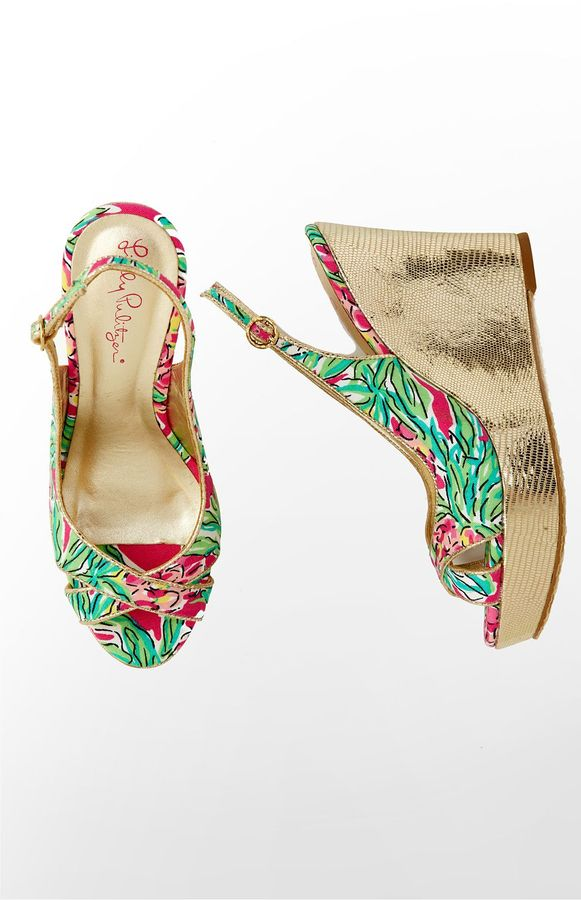 Lilly Pulitzer FINAL SALE - Ginger Wrap Wedge Print