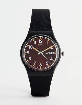 Swatch GB753 Original Sir Red Watch In Black