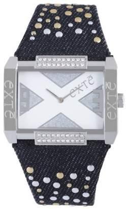 Exte Women's EX.4032M/06Z Black Canvas Band watch.
