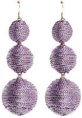 Kenneth Jay Lane Threaded sphere drop earrings