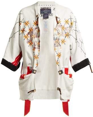 Couture Noki - Customised Street Cotton Jacket - Womens - Grey Multi