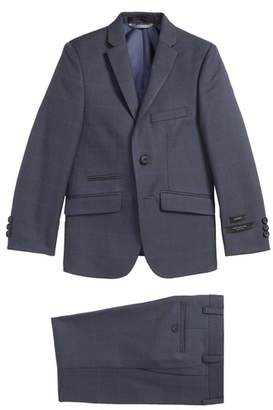 Andrew Marc Blue Window Two-Piece Suit