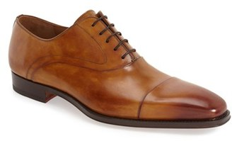Men's Magnanni Saffron Cap Toe Oxford $325 thestylecure.com