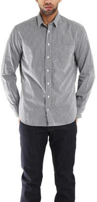 Blue & Cream Blue&Cream Grey Macro Check Gingham Button Down Shirt