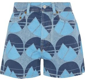 Acne Studios Printed Denim Shorts