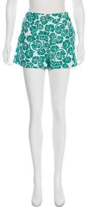 Tory Burch High-Rise Printed Shorts
