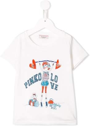 Pinko Kids printed 'endless love' T-shirt