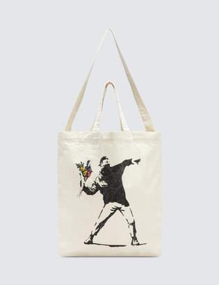 "Medicom Toy Sync.-Brandalism ""Flower Bomber"" Herringbone 2way Tote Bag"