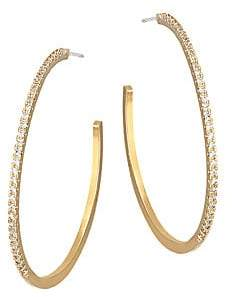 Jules Smith Designs Women's 14K Goldplated Pavé Crystal Hoops