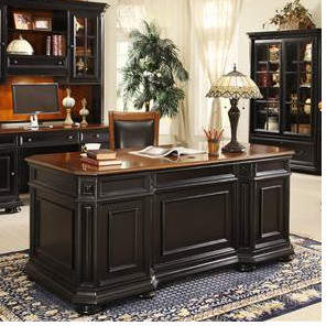 Co Darby Home Stina Executive Desk with 3 Drawers