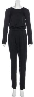 Piamita Silk Long Sleeve Jumpsuit