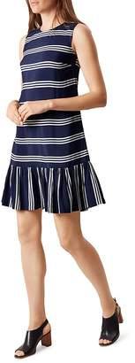 HOBBS LONDON Casey Striped Dress $175 thestylecure.com