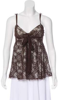 Robert Rodriguez Sleeveless Crocheted Top
