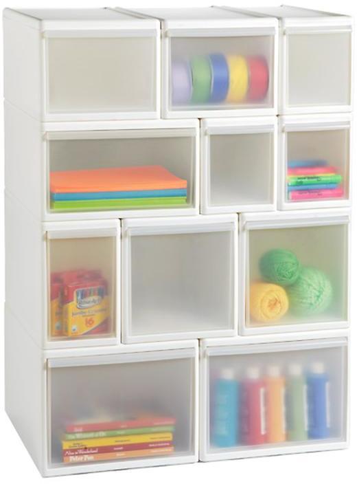 Container Store Like-it® Modular Tall Medium Drawer White