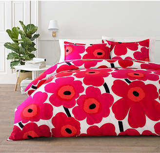 Marimekko Unikko Cotton 3-Pc. King Duvet Cover Set Bedding