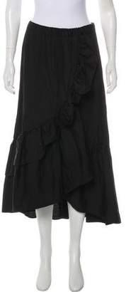 Fuzzi Ruffle-Accented Midi Skirt