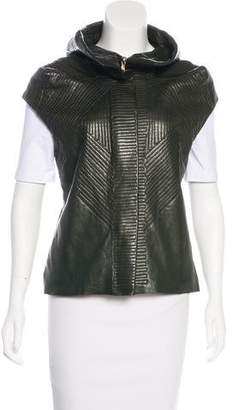 Sharon Wauchob Leather Cap Sleeve Vest