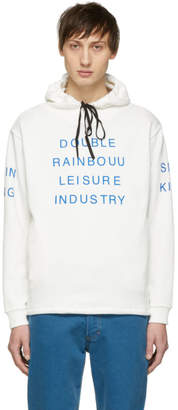 Double Rainbouu White Couch Surf Hoodie