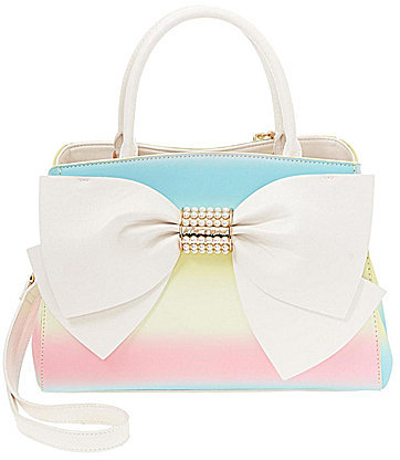 Betsey Johnson Betsey Johnson Pearl of A Girl Rainbow Bow Satchel