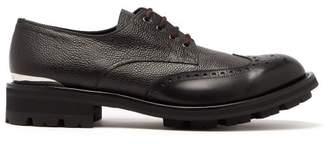 Alexander McQueen Tread Sole Leather Derby Shoes - Mens - Black