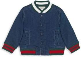 Gucci Baby's Demim Bomber Jacket