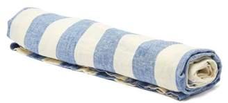 Frescobol Carioca - Wide Stripe Linen Towel - Mens - Blue White