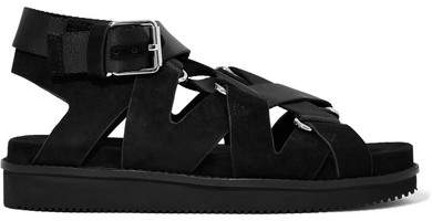 Alexander Wang - Natalie Suede And Canvas Sandals - Black