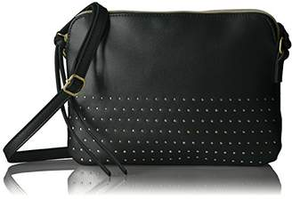 T-Shirt & Jeans Double Zip Cross Body with Stud Detail