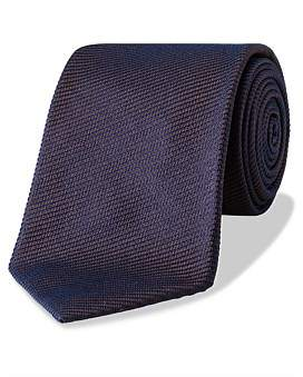 Gieves and Hawkes Silk Diagonal Twill Plain Tie