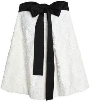 Zimmermann Strapless Bow-Detailed Embroidered Linen-Gauze Mini Dress
