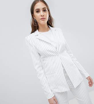 Missguided Tall Stripe Tailored Blazer