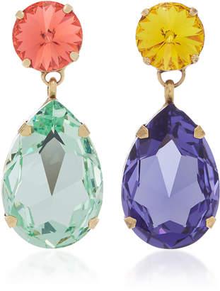 Swarovski Roxanne Assoulin Hip-Hop But Not Mismatched Crystal Clip Earrings
