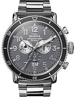 Shinola Runwell Sport Chronograph Stainless Steel Bracelet- Strap Watch