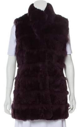 Yves Salomon Meteo x Button-Up Fur Vest