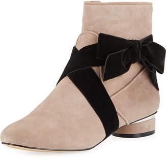Karl Lagerfeld Paris Finlee Low-Heel Booties with Bow