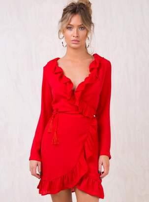 Dear Delilah Ruffle Wrap Dress