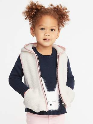 b4e3fad9e1af Old Navy Hooded Sherpa Vest for Toddler Girls