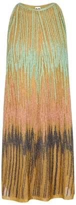 M Missoni Gold Flared Metallic-knit Dress