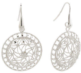 Made In Italy Sterling Silver Disc Earrings
