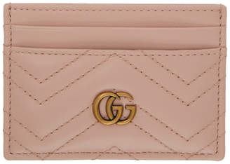 1e207ade1f70aa Gucci Pink GG Marmont Card Holder