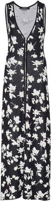 Derek Lam Floral Jacquard V-Neck Knit Dress