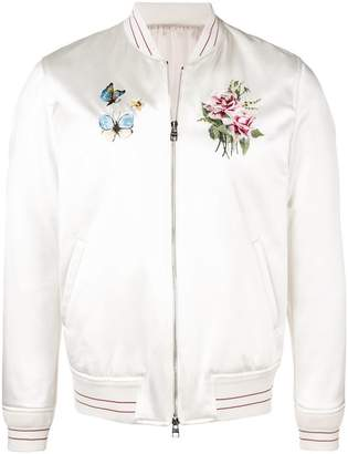 Alexander McQueen embroidered bomber jacket