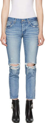 Moussy Vintage Blue Latrobe Tapered Jeans