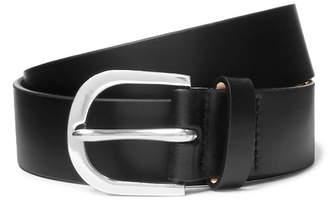 Paul Smith 3cm Black Leather Belt - Black
