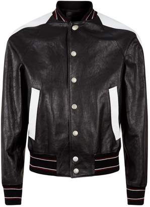 Givenchy Leather Varsity Bomber Jacket